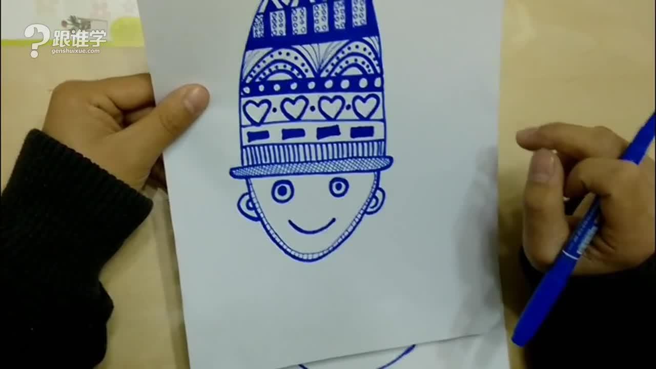 绘画可爱的帽子