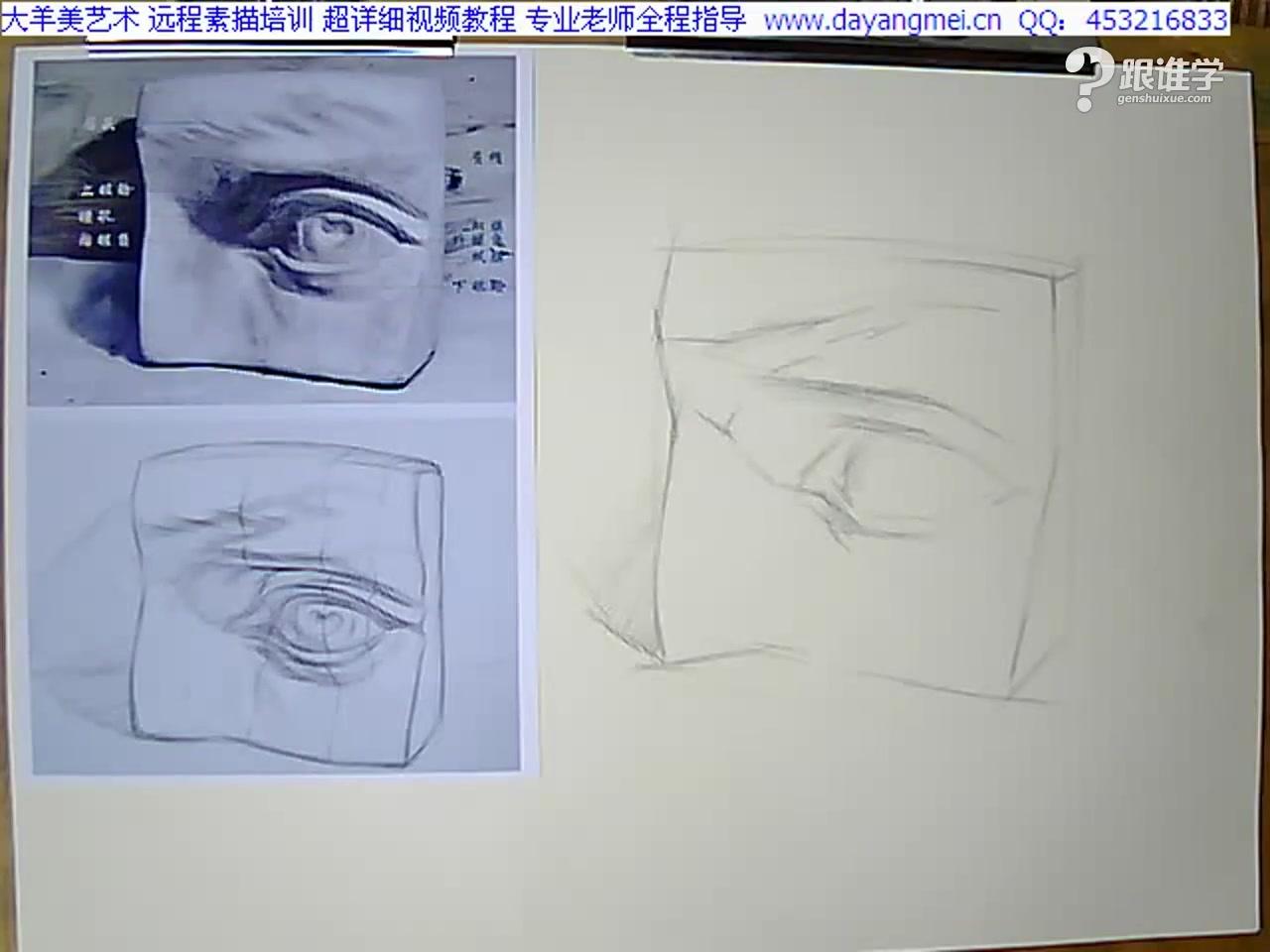 眼睛的画法步骤一