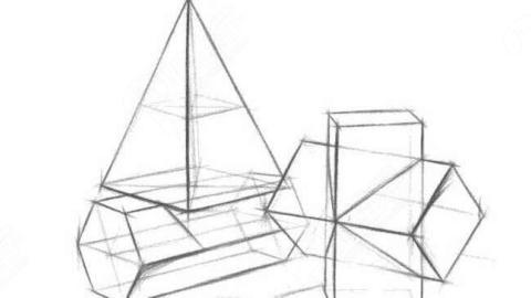 素描 几个 形体 清醒透视结构