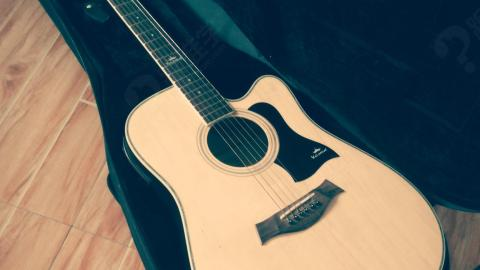 吉他图形创意手绘