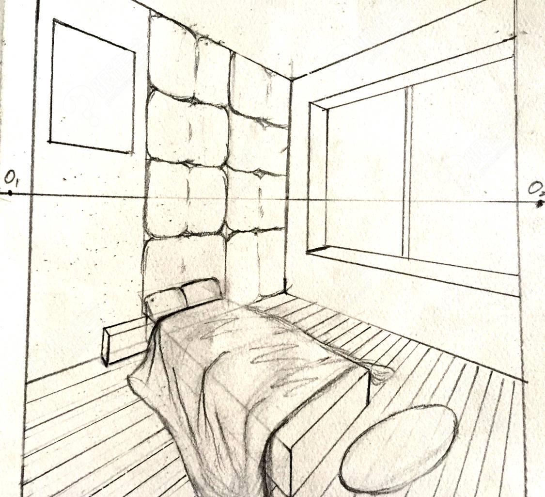成角透视图-零基础手绘课 第二课作业