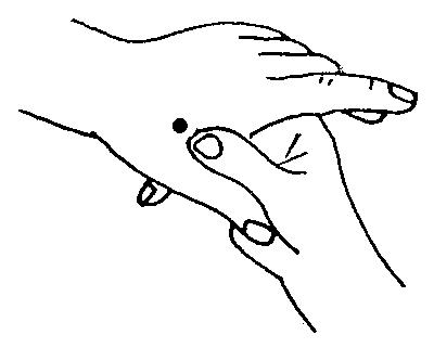 握拳手掌手绘画