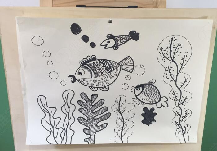 创意线描画