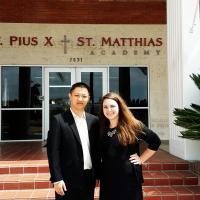 杨老师走访圣佑马蒂亚斯中学