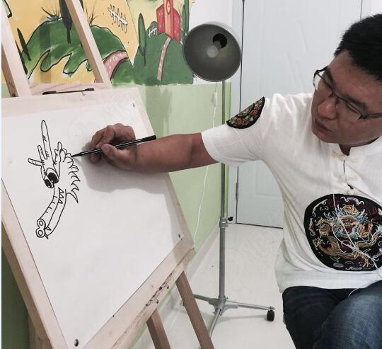 创意美术-水彩笔赛龙舟