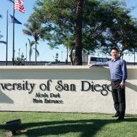 杨老师走访圣地亚哥大学