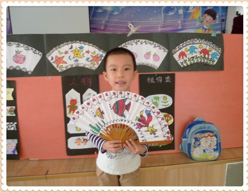 幼儿园扇子画图片大全