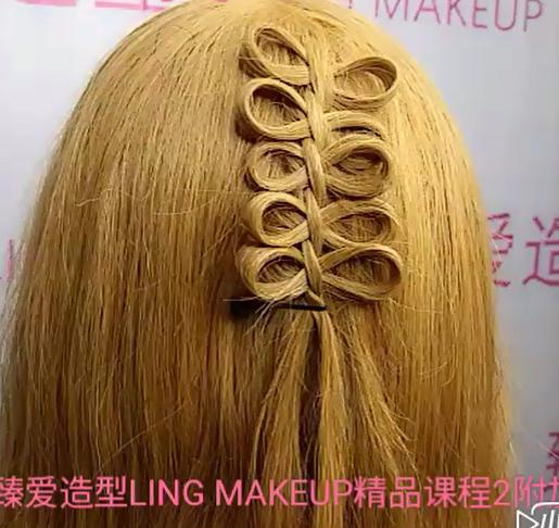 【免费】【图片】时尚发型发型,蝴蝶结中国结汉服教程视频图片