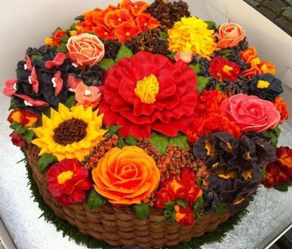 花篮蛋糕:掌握花篮蛋糕的制作(2课时)图片
