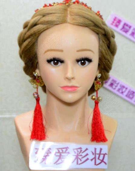 中式新娘编发教程图解_中式新娘编发