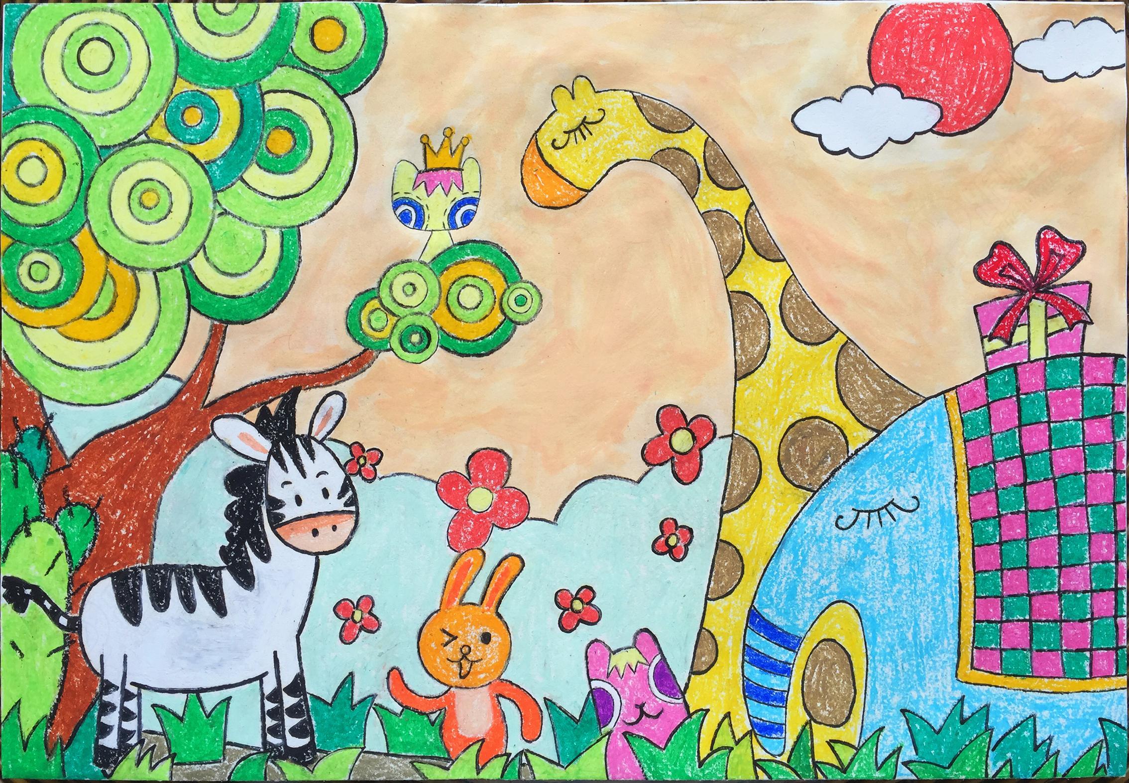 儿童绘画课(电子互动教学)