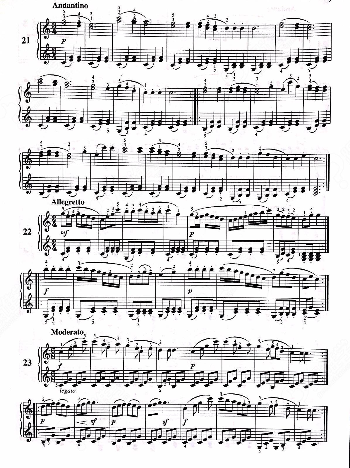 车尔尼599钢琴