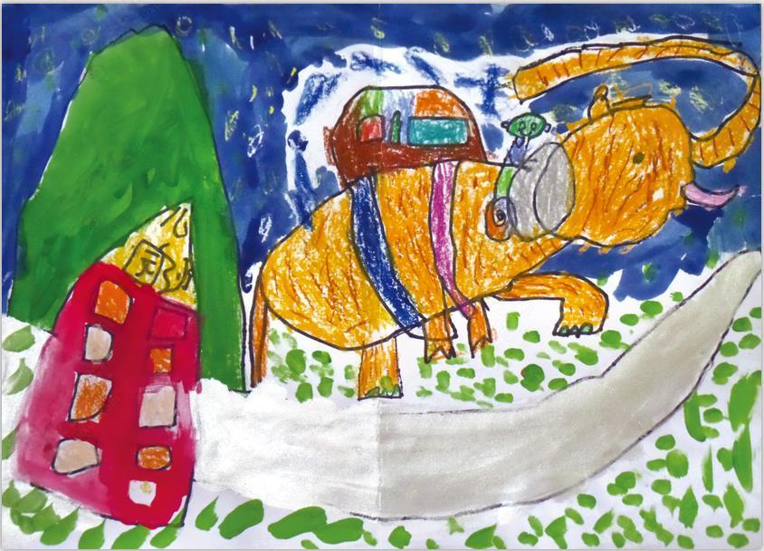 儿童创意绘本美术课——四个爸爸图片