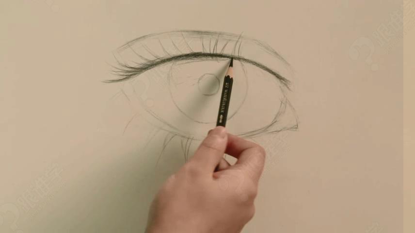 彩铅速画眼睛教程