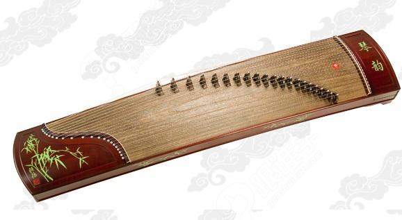 结构由面板,雁柱(一些地段也称之为筝码),琴弦,前岳山,弦钉,调音盒,琴图片