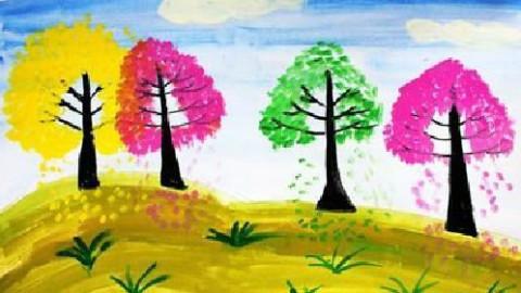 儿童水粉画教师范画
