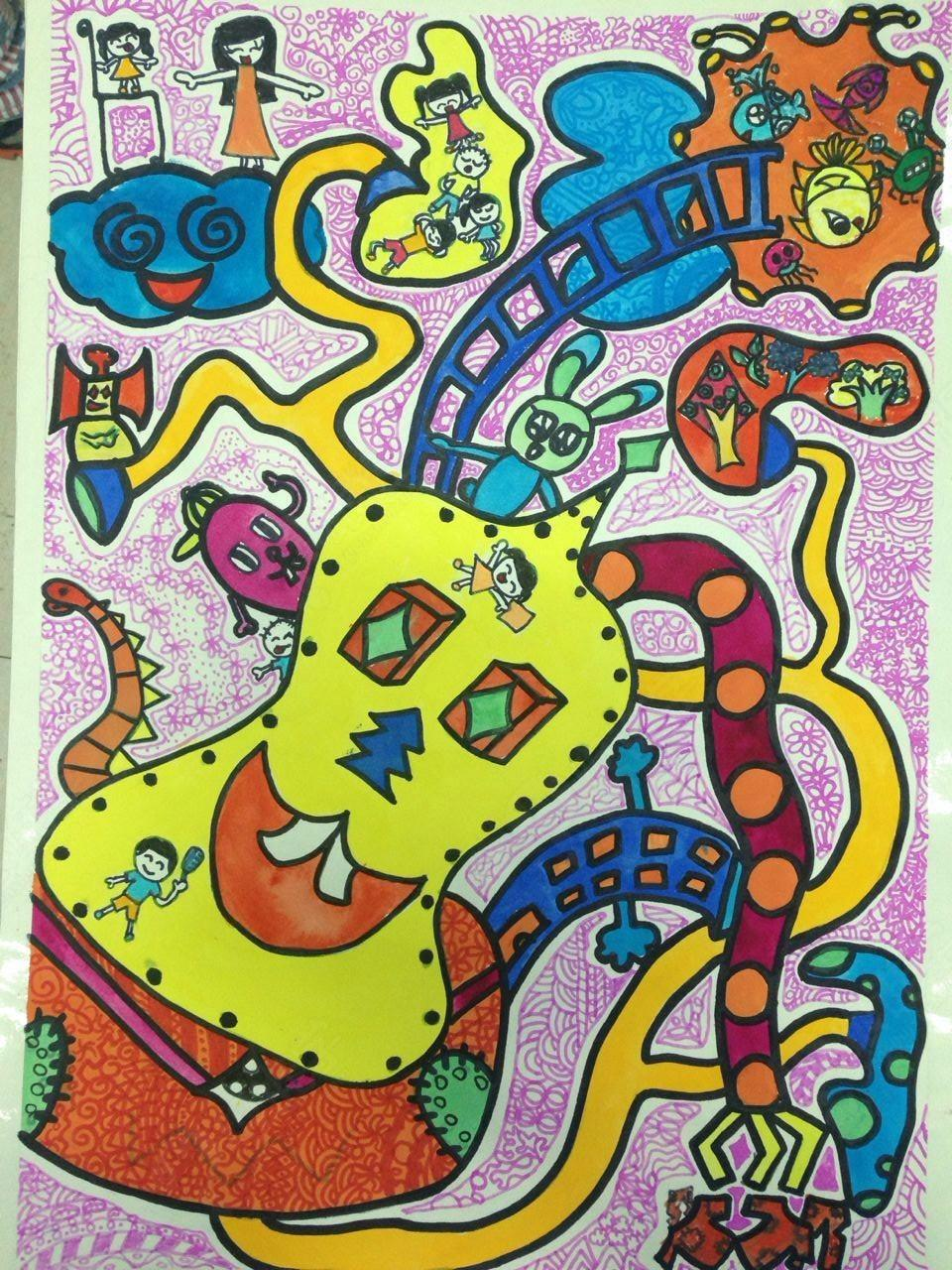 趣味儿童创意画图片