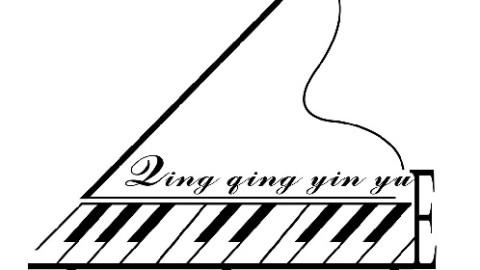 钢琴 黑白手绘 细节
