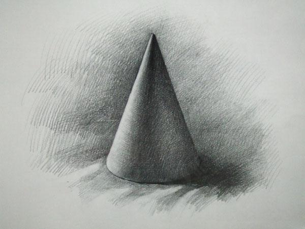 素描几何体7 圆柱 圆锥 课程作业图片
