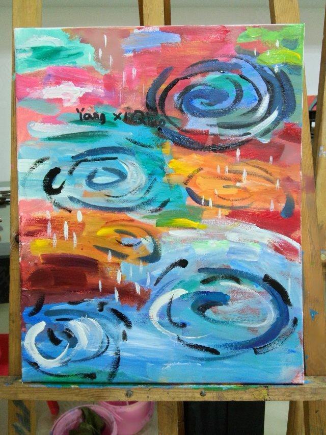 油画简介:油画(an oil painting; a painting in oils) 是以用快干性的植物油(亚麻仁油、罂 粟油、核桃油等)调和颜料,在画布、纸板、木板或者墙面上进行制作的一个画种。作画时 使用的稀释剂为松节油和干性的亚麻仁油等。 画面所附着的颜料有较强的硬度, 当画面干燥 后,能长期保持光泽。凭借颜料的遮盖力和透明性能较充分地表现描绘对象,色彩丰富,立 体质感强。油画是西洋画的主要画种之一。它起源并发展于欧洲,到近代成为世界性的重要画种。