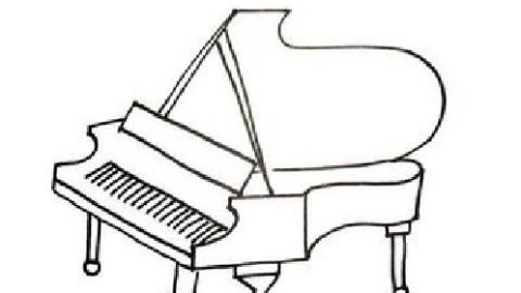 立面图钢琴手绘