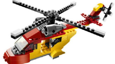 乐高直升机_机器人教育