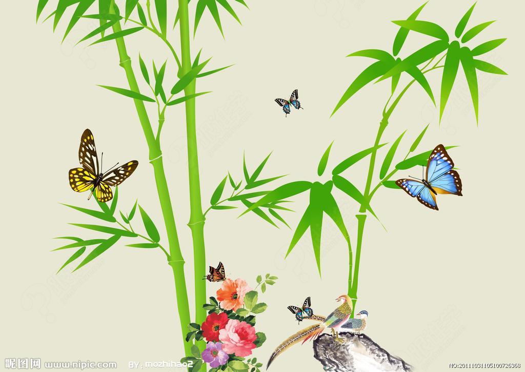 中国炭笔画公开课《竹子》