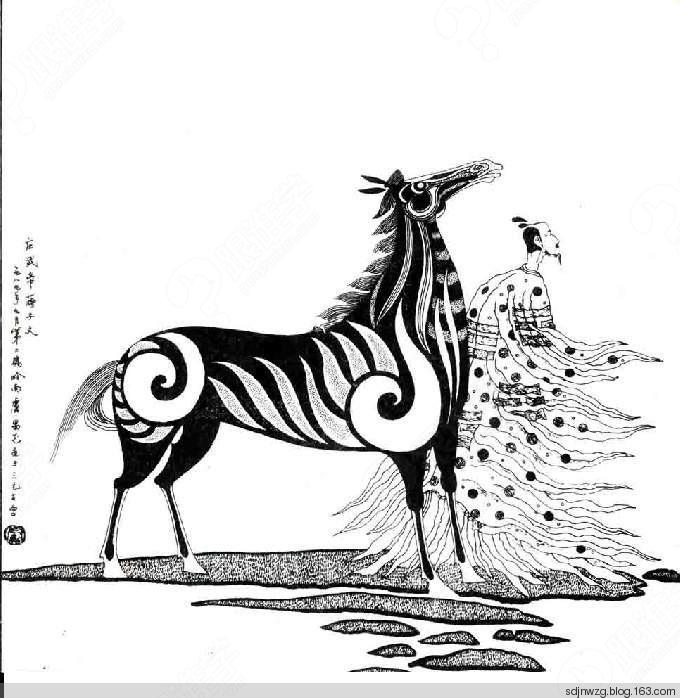 手绘插画黑白装饰画课堂