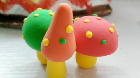 """超轻黏土手工——""""蘑菇森林""""_手工制作_杨倩-跟谁学"""