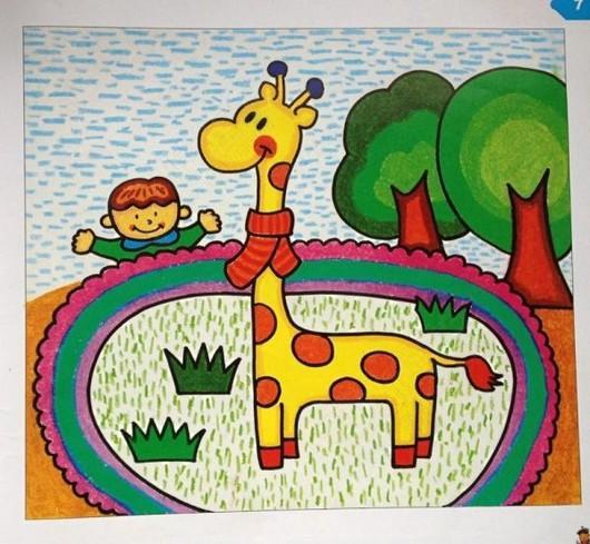 方方圆圆动物儿童画