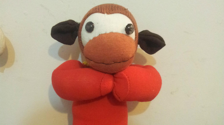 新年快乐之袜子娃娃拜年猴子制作