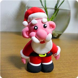 用超轻粘土制作圣诞老人