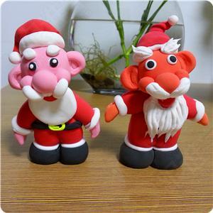 【免费】【视频】用超轻粘土制作圣诞老人