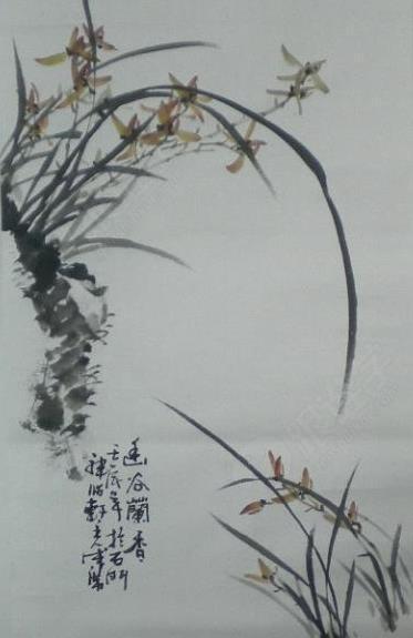 画兰花的视频用胭脂,花青,彩色和赭石来画.逃大班兔家小藤黄教学设计图片