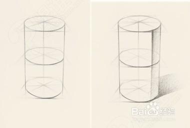 水杯素描透视步骤