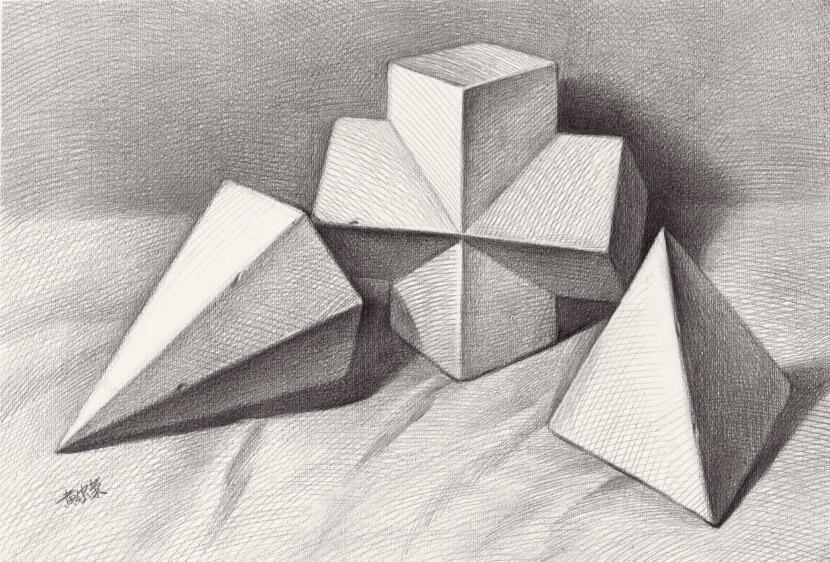 素描基础几何体课程 零基础速成班图片