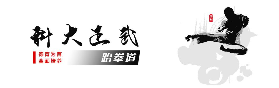 跆拳道运动起源于朝鲜半岛,是一项极重视礼仪和道德的现代体育运动。世界跆拳道联盟现拥有180多个会员国,2000年跆拳道成为奥运会正式比赛项目,中国选手迄今一共获得五玫奥运会跆拳道金牌,跆拳道运动在中国发展迅猛,是深受青少年喜爱的健身项目。 礼仪廉耻、忍耐克己、百折不屈是跆拳道的精神,跆拳道可以锻炼修炼者的意志品质,锻炼克服自我战胜困难的正气和体魄,最终具有高度责任感和社会适应能力,同时在生活的实践中通过礼节形成正确的价值观,在健康的身体上表现出坚韧的精神。  宽1100x350高  显示比例:87%