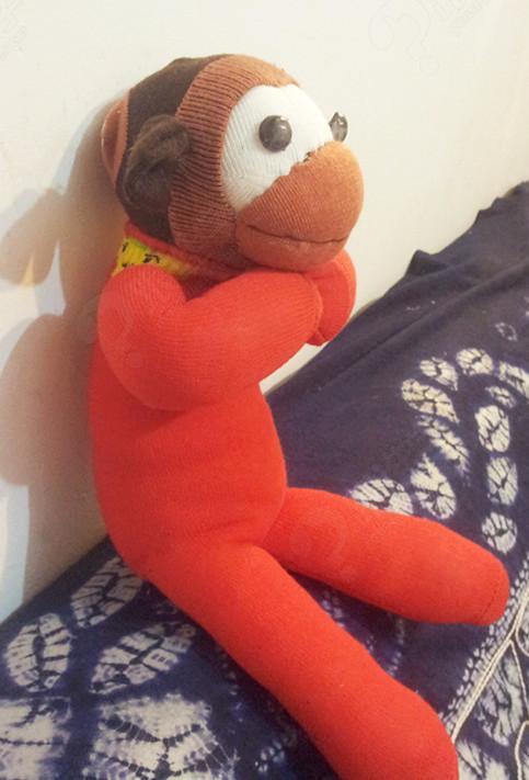 【视频】【布艺初级课程】袜子娃娃拜年猴子