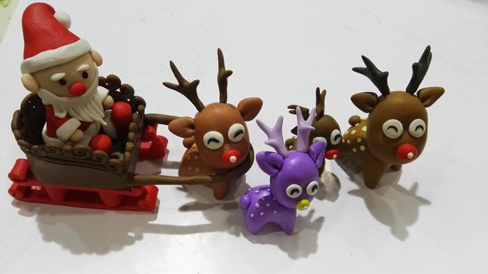 麋鹿粘土作品教程图解