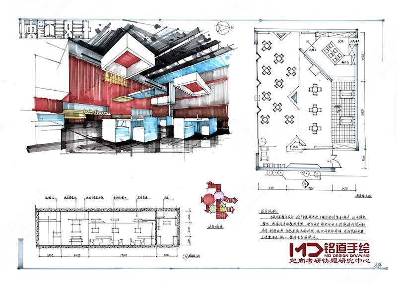 零基础景观,建筑,室内设计手绘基础表现班