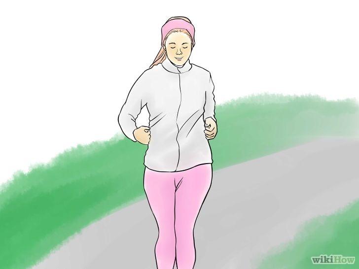准备跑步姿势简笔画