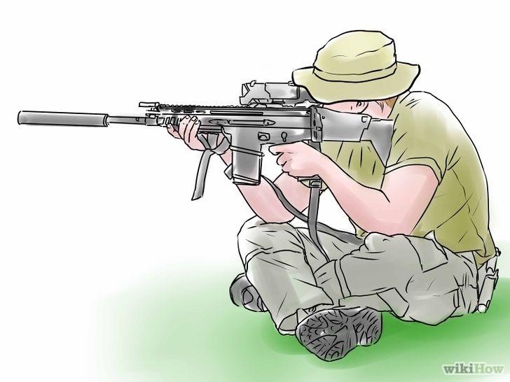 射击军人矢量图