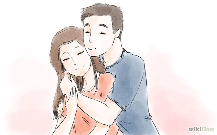 两个人像两个勺子叠在一起一样拥抱,这样的方式可以最大化的增加亲密