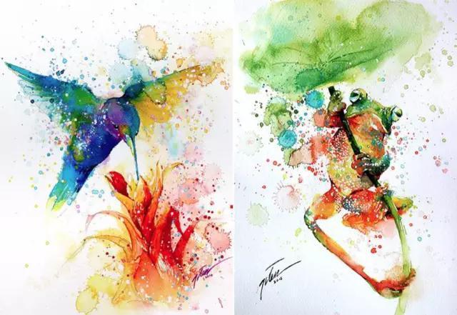 ��;�\�N�_今天要和大家一起分享新加坡艺术家tilen ti 用泼墨的手法绘制的水粉