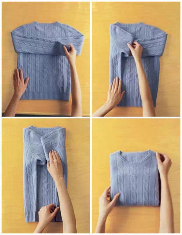 学习头条 正文 衣服不容易皱的折叠方法 让衣物收纳 更整齐更省空间